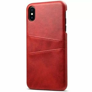 Red iPhone Leather Wallet Case